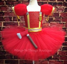 A personal favorite from my Etsy shop https://www.etsy.com/listing/229388338/firefighter-costume-dress-tutu-set-w