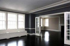 Design Dose - Black floors <3. Anyone that knows me knows I ❤ black n white