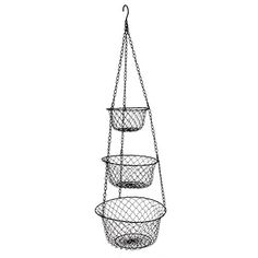 MELODY OLINA 3 Tier Hanging Fruit or Vegetable Kitchen St...