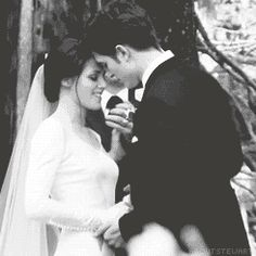 Breaking dawn is probably my favorite twilight Bella is stunning in her wedding dress xo