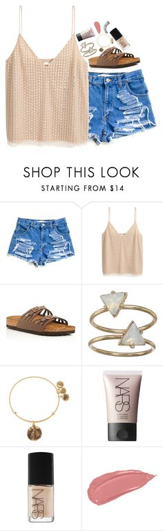 """""""happy birthday sydney"""" by beingrach ❤ liked on Polyvore featuring H&M, Birkenstock, LC Lauren Conrad, Alex and Ani, NARS Cosmetics and Forever 21"""