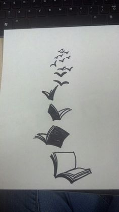 Reading sets you free! I think I'd like this along my collar bone ...