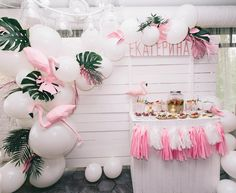 23rd Birthday, Birthday Celebration, Birthday Parties, Flamingo Baby Shower, Flamingo Party, Tropical Party, Babyshower, First Birthdays, Party Time
