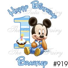 Baby 1st Birthday Mickey Mouse Shirt