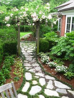 18 Creative Garden Path Ideas That You Can Easily Make ...ac or a T-junction with a road.Creating a curvy path is the ideal. But an already existing straight walkway can be altered by staggering some potted p...School Feng Shui. In fact some Feng Shui scholars teach that the outside environment is more important than the interior environment. Xuan Kong pract #plans.harryalacey.com #creative-garden-path #garden
