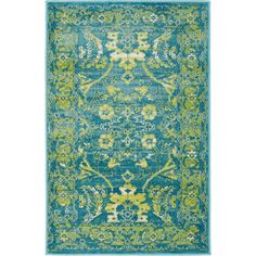 Istanbul Blue 2 ft. x 3 ft. Area Rug #AreaRugs