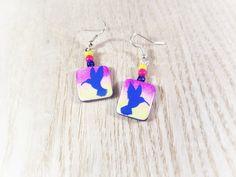 Cute Hummingbird Earrings, Hummingbird Jewelry, Sterling Silver Dangle Earrings Silhouette, Hummingbird Art, Animal Earrings, Animal Jewelry by TrinityClay on Etsy #polymerclay #etsy #etsyshop #etsyseller #handmadejewelry ##handpainted #handmade #earrings #jewelry #oneofakind #craft #crafts #myart #art #artwork #artistic #artist #illustration #f4f #follow4follow #love #instagood #followme #hummingbird #hummingbirds #cuteanimals #cute