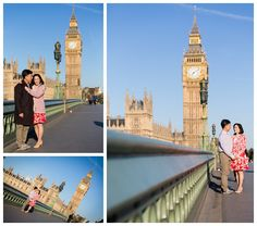 We like the two portrait pics here as Big Ben is captured in the beautiful sunlight and in an interesting way - the couple aren't central to the photo but they are in a posed position so the focus isn't just on them - it's a nice balance and the colours are great.