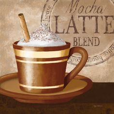 Coffee Decor offers a wide selection of coffee inspired art for your home kitchen or cafe. Shop our selections of latte artwork to give your kitchen a warm and inviting feel. I Love Coffee, Coffee Break, Morning Coffee, Café Chocolate, Italian Coffee, Turkish Coffee, Coffee Poster, Coffee Cafe, Coffee Mugs
