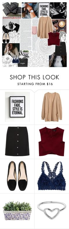 """january 18th ♡"" by lace-and-glitter ❤ liked on Polyvore featuring H&M, Carven, Talula, Zara, Chanel, American Eagle Outfitters, ChloBo, women's clothing, women's fashion and women"