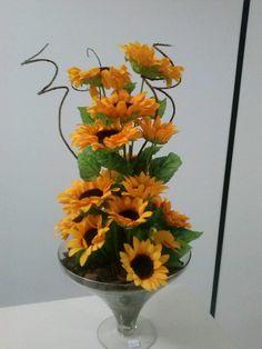 arranjo de girassol #artesanato #flores