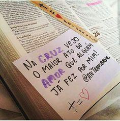 O amor dele é maior e melhor do que todos <3 Jesus Loves You, God Loves Me, Abba Father, Gods Not Dead, Motivational Phrases, Jesus Freak, God Is Good, Gods Love, Texts