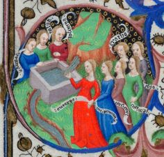 the nine muses, November Book of Hours Add_ms_18850_f011r_detail2