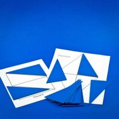 """Use together with our templates, the Blue Triangles allow the person to create shapes ranging from simple to complex. They can be also be used """"free form"""" without the templates and encourage creativity. Stages Of Dementia, Dementia Care, Alzheimer's And Dementia, Speech Language Therapy, Speech And Language, Speech Therapy, Challenging Puzzles, Montessori Activities, Helping People"""
