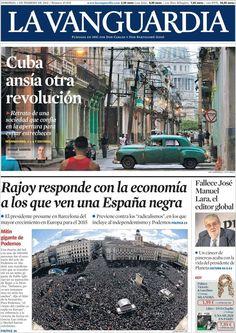 Diario LA VANGUARDIA del 1 de Febrero 2015 Recordamos que pueden visualizar cada día las principales portadas titulares ocurridos en España - Catalunya - Barcelona en http://www.youtube.com/vendopor