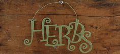 HERBS sign
