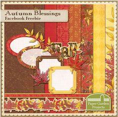 Autumn Blessings mini kit freebie from Paper Garden Projects #digiscrap #scrapbooking #digifree #scrap #freebie #scrapbook