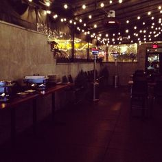 Setting up for a private event at Tavern in Nashville, TN. Contact events@mstreetnashville.com to book an event!