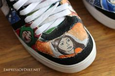 How to paint shoes - if you can draw it, you can paint it on shoes