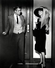 "Audrey Hepburn and George Peppard. Still from ""Breakfast at Tiffany's"""