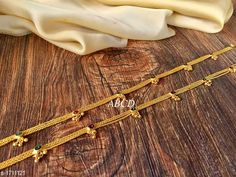 Anklets & Toe Rings Women's Alloy Gold Plated Anklets & Toe Rings Material: Alloy Size: Free Size Description: It Has 1 Pair Of  Women's Anklet Work: Stone Work Country of Origin: India Sizes Available: Free Size   Catalog Rating: ★3.9 (5120)  Catalog Name: Women's Alloy Gold Plated Anklets & Toe Rings CatalogID_223722 C77-SC1098 Code: 241-1711121-