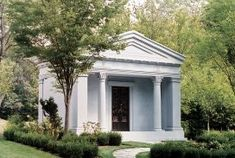 View our classic mausoleum gallery. Learn about the The Haydn Mausoleum. From Forever Legacy, America's Premiere mausoleum builders. Flagstone Walkway, Marble Columns, Classic Architecture, Site Design, Beautiful Buildings, Stained Glass Windows, Cemetery, Old World, Perfect Place
