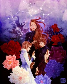 Feyre, Nesta and Elain Archeron Art Print ~ $15 ~ ACOWAR Gifts!