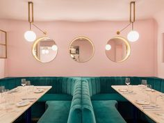 North Audley Canteen by @gundryducker Photo by @andrewmeredithphoto Read more on divisare.com #divisare #architecture #unitedkingdom #uk #london #restaurant #pink #colours
