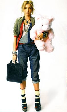 remove teddy bear and it's a killer #overall look