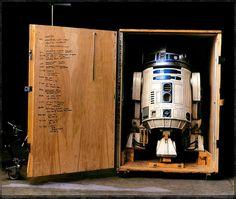 R2 in storage crate by Annie Leibovitz