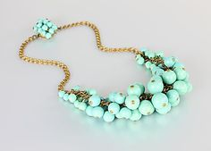Czech #ArtDeco #Necklace in Robin Blue Turquoise