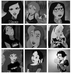 Disney punk princesses <3