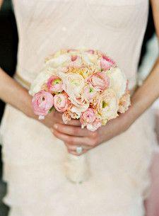 Bella Fiori. James Christianson Photography. Bouquet of all blush pink ranunculus.