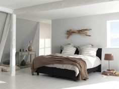 'Calm and restful' bedroom ideas White Bedroom, Bedroom Wall, Master Bedroom, Bedroom Decor, Bedroom Ideas, Bed Room, Attic Bedroom Designs, Attic Bedrooms, Cosy Bed