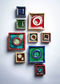 Wall Blocks By reiko Cunningham Www.facebook.com/helloimreiko  #ceramic #pottery