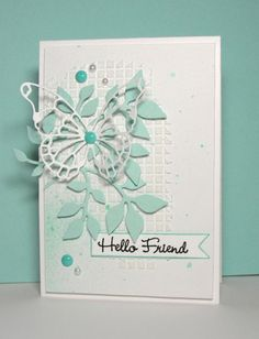 Such a Pretty card by Barb Engler using Some Simon Says Stamp Exclusive Dies.  February 2014