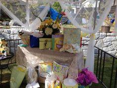 Gift Table inside Gazebo.