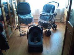 mamas and papas ultima 9 in 1 travel system with mpx chassis; Carry Cot: on Chasis as Pram, on Surfix Stand as a Bassinet; Pushchair Seat (front or rearward facing) on Chasis as buggy, Pushchair seat on Surfix Stand as a Highchair; Car seat: on own as travel seat in a Car, on the Chasis as a travel system & on a Surfix Stand as a high chair.