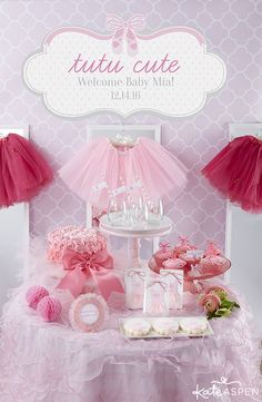 A ballerina themed baby shower is just tutu cute!