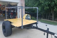 This is Kyle's third Jeep Trailer waiting for its tub kit to arrive. Like his others, it has a No Weld Trailer Rack setup for a roof top tent. Off Road Trailer, Bike Trailer, Trailer Build, Utility Trailer, Camper Trailers, Small Camping Trailer, Adventure Trailers, Overland Trailer, Tent Set Up