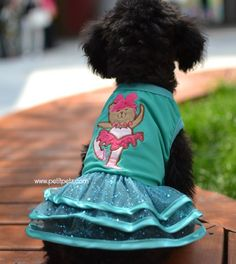 Vestido para perrita estilo bailarina de ballet. tallas mini