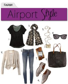 leopard scarf - to the airport