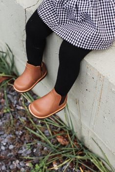 Handcrafted leather slip on boot for kidsYou can find Charts for kids and more on our website.Handcrafted leather slip on boot for kids Little Girl Outfits, Little Girl Fashion, Toddler Fashion, Boy Fashion, Fashion Shoes, Fashion 2020, Leather Chelsea Boots, Leather Slip Ons, Leather Boots