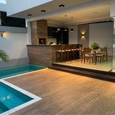 trending small pool designs for your backyard 33 Small Backyard Pools, Backyard Pool Designs, Swimming Pools Backyard, Backyard Patio, Rooftop Patio, Villa Design, Modern House Design, Small Pool Design, Outdoor Kitchen Design