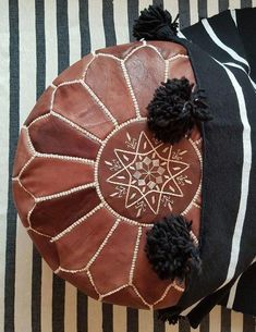 leather pouf ottoman handmade poufA little aboutOur Moroccan Leather Authentic leather POUF moroccan ottoman free wordewide shipping