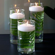 Table Centerpieces 36 Glass Cylinder Vases with Candle - could use around the lanterns