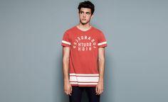 Pull&Bear - man - t-shirts - print t-shirt - reddish - 09231554-I2014