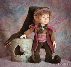 Fantasy art doll elf doll BJD doll herbstliche deko décoration #elf #doll