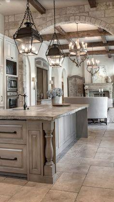 25 Finest Rustic Italian Home Décor Ideas Modern Kitchen Interiors, Modern Farmhouse Kitchens, Rustic Interiors, Farmhouse Decor, Tuscan Kitchens, Farmhouse Style, French Country Kitchens, Kitchen Modern, French Country House