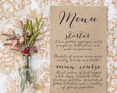 wedding menu – Etsy